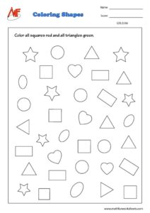 2D shapes Worksheet