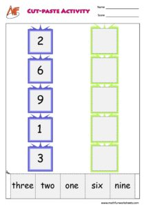 Number Names chart