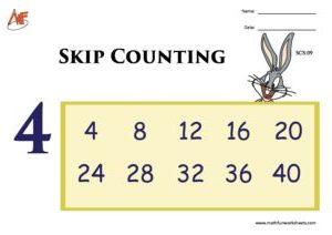 Skip Counting by 4