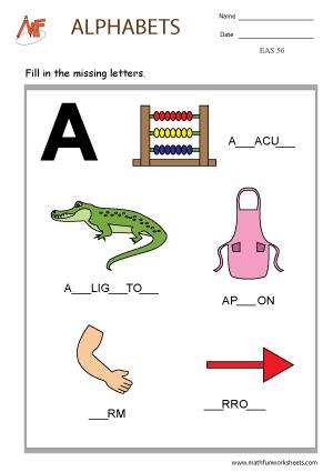 Alphabet Missing Letter