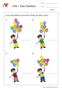 Odd Even numbers Worksheet
